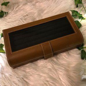Beckett leather cufflink/ring box ( Pottery Barn )